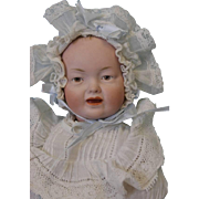 "Antique c.1915 12"" German Bisque Character Baby 525 by Kley and Hahn"