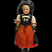 SALE 11 Inch Antique Doll Simon & Halbig #1079 Berne Swiss Costume Factory Original