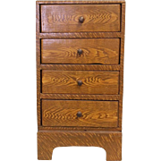 """Tramp Art painted on wood grain dresser 12"""" X 6"""" X 5"""" Made from Cigar Boxes"""