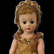 """SALE Pretty 10"""" Cissette Ballerina #713 Gold Flecked Costume Tutu 1959 Original Coronet"""