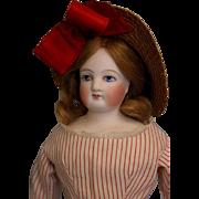 """SALE Antique 14"""" Blue Eyed French Bisque Fashion Doll Antique Clothes,bonnet & Wig!!"""