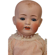 "Antique 22"" German Bisque Marked 151 Solid Dome Baby Doll"