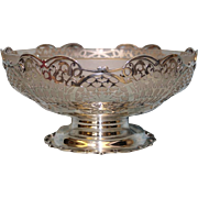 SALE Sterling bowl with original Glass Liner from 1933 by Blackmore and Fletcher LTD