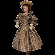 "SALE 15"" Antique Jumeau French Fashion doll swivel head, stamped body ca.1860 Dressed"