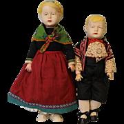 """SALE 14"""" Harald 16"""" Inge Wagner & Zetzsche Art Doll 1916 Original Haralit Compositio"""