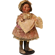 "SOLD 14"" Tata Doll All Original Antique Key Wind French Roullet Decamps Automaton"