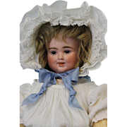"""SALE Antique 17"""" 3 Face Bisque Pull String Talking Doll, by Carl Bergner Old Clothes"""