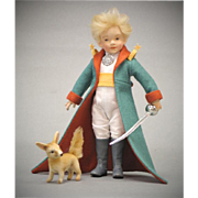 "SALE 8.5"" R. John Wright Doll Le Petit Prince and his companion The Fox Limited Edition"