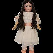 """SALE Antique 22"""" German Bisque Kestner 167 Doll Luscious human hair Wig, Sleep Eyes"""