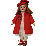 """SALE Antique 8"""" German Bisque Doll Attributed to Armand Marseille c.1910 Cute Outfit"""