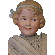 """SALE Antique 17.5"""" Gebruder Heubach #7763 Coquette Smiling Character Antique Clothes"""