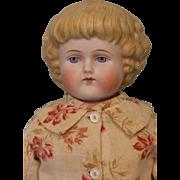 """Antique 16.5"""" Alt Beck Gottschalck ABG Bisque Head Parian Doll Antique Kid body"""