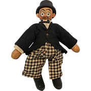 """7"""" Schoenhuts Barney Google Excellent Condition All Original with Label, Top Hat"""