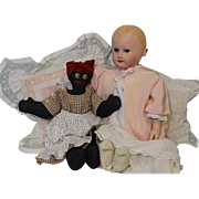 "22"" Antique Martha Chase Cloth Doll Orig.Paint No Repaint c.1900 Weighted"