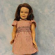 "14"" Vintage Dewees Cochran Latex Girl Doll Original Wig & Clothing"