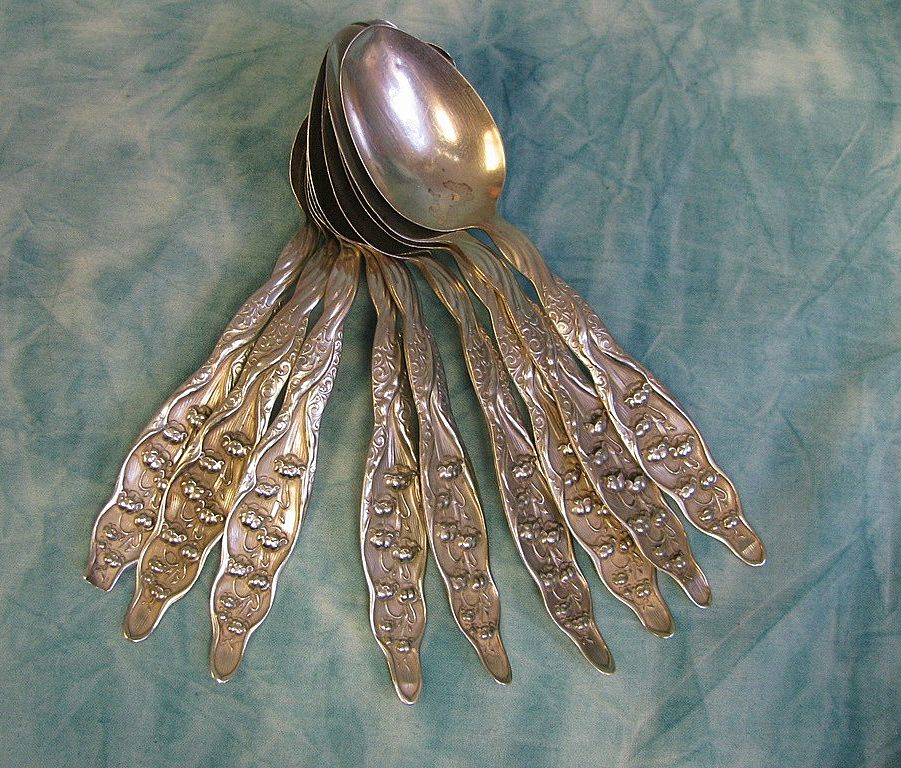 8= Gorham-Whiting Sterling Teaspoons Lily of the Valley
