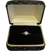 SALE Beautiful Ladies Diamond Engagement Ring Stamped Platinum size 8 .68ct VVS2