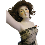 "SALE Galluba & Hofmann HUGE 17"" Early German Bisque Bathing Beauty Wigged, Gorgeous"