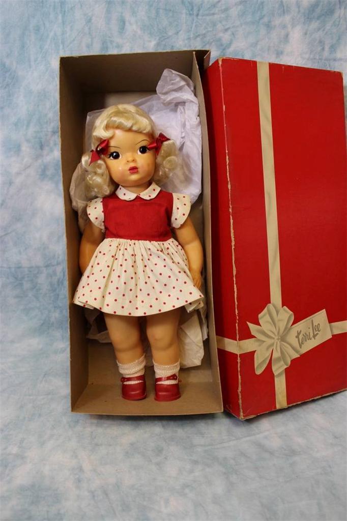 "Target Monthly Box: 16"" Terri Lee Doll C1953 School Dress In BOX + LABEL"