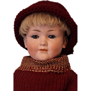 "SALE c.1912 RARE 14.5"" German Bisque Kley & Hahn 549 Character Antique Child Doll"