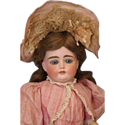 """SALE Antique German Bisque 17"""" All ORIGINAL Closed Mouth Very Pouty Kestner Doll"""