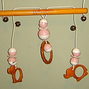 "SALE Bakelite and Plastic ""Crib Circus"" Mobile Crib Toy"