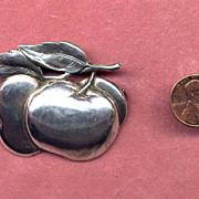 SALE Cini Sterling Apple Pin
