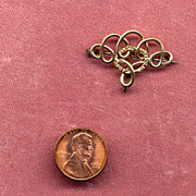 "SALE Victorian Gold-Filled ""Love-Knot"" Fob or Watch Pin"