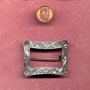 SALE Signed Sterling Silver Tiffany & Co. Buckle Pin