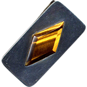 SALE Mexican Sterling and Tiger Eye Money Clip