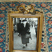 SOLD Brass Table-Top Picture Frame with Fancy Bow