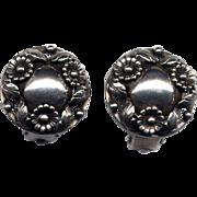 SALE Denmark Sterling N. E. From Clip Earrings