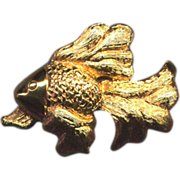 SALE Gold-Filled Napier Fish Pin