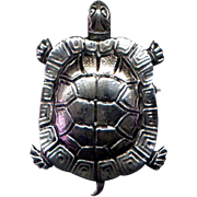 Cini Sterling Turtle Pin