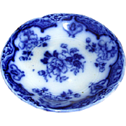 English Meakin Flow Blue China Butter Pat