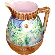 Small Etruscan Majolica Pottery Pitcher
