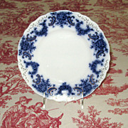 "English Flow Blue Pottery 9"" Nelson Plate"