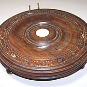 Round 3-Track Cribbage Board, MOP and Gem Inlays, c.1880-1900