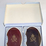 "Double Deck De La Rue ""King George VI"" Royal Family Playing Cards, Gift of King ..."