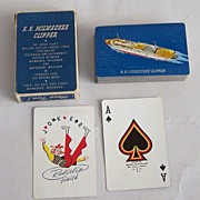 "Brown & Bigelow ""S.S. Milwaukee Clipper"" Playing Cards, c.1950"