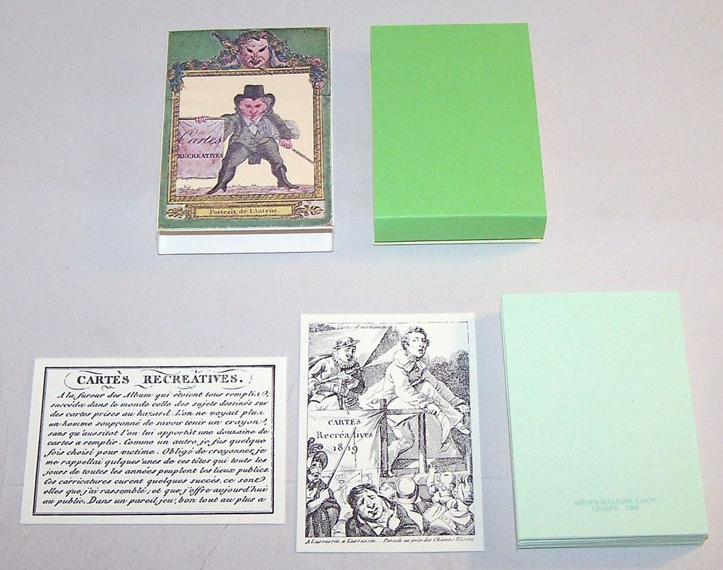 """Arienti / Solleone Facsimile """"Cartes Récréatives 1819"""" Transformation Cards, Limited Edition (520/800), c.1984 (Based On Guiard Pack c.1819)"""