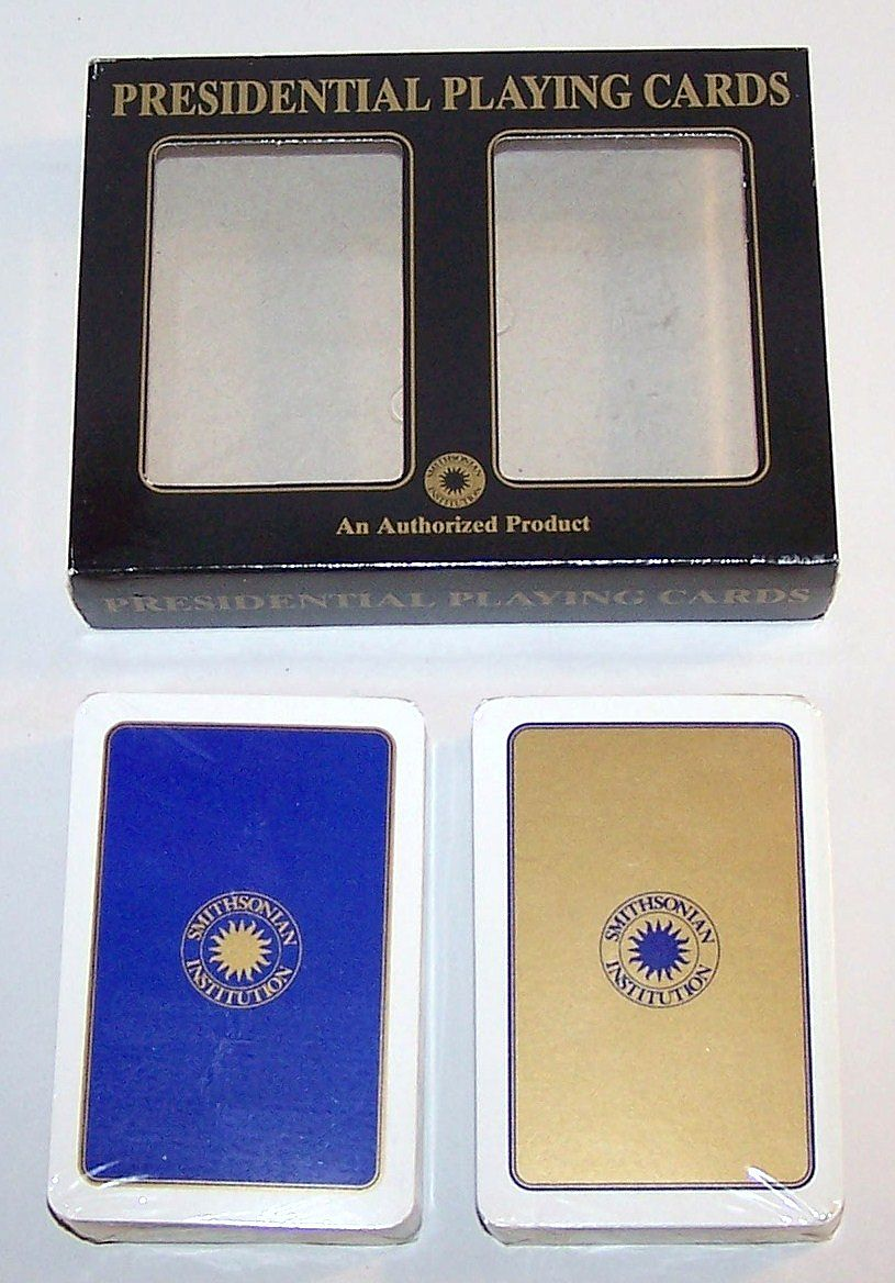 """Double Deck F.X. Schmid """"Presidential Playing Cards,"""" Smithsonian Institution, c.1990s"""