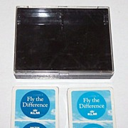 """SOLD Double Deck Carta Mundi """"KLM"""" Playing Cards, Max Velthuijs Designs, c.1970s"""