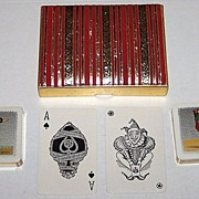 "2 Decks Waddington ""Sporting Birds Series"" Playing Cards – ""Mallard"" and ""Pheasant"" – William Barribal Designs (Backs), c.1930s"