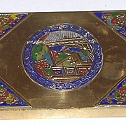 Chinese Cloisonné Playing Card Box (Two Decks)