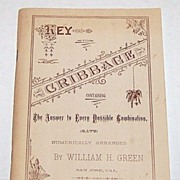 "William H. Green ""Key to Cribbage: Containing the Answer to Every Possible Combination (6,175),"" Cribbage Book, Gambler's Book Club, 1972 Edition"