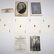 "Theo. Presser ""Court of Music"" Playing Cards, ""New Suits"" Deck, c.1910"