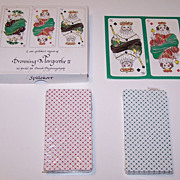 """Double Deck """"Dronning Margrethe II"""" Playing Cards, Queen Margrethe II Designs, Hans Christ"""