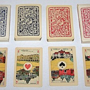 "Twin Decks La Turnhoutoise, S.A. ""Piket"" Playing Cards, $35/ea., c.1920"