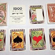"Grimaud ""1900 -- Art Nouveau"" Playing Cards, Marie Christine Schira Designs, c.1979"